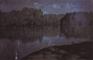 Night. Riverbank.