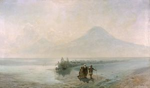 Dejection of Noah from mountain Ararat