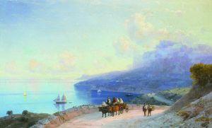 Sea coast. Crimean coast near Ai-Petri