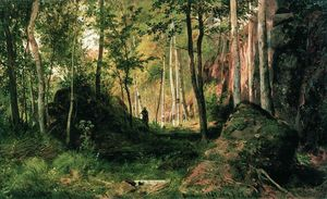 Landscape with a Hunter. Valaam Island