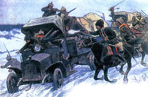 The seizure of German automobiles
