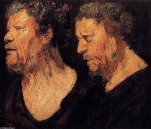 Two studies of the head of Abraham Grapheus