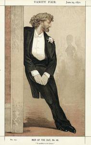 Caricature of Frederic Leighton