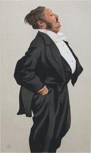 Caricature of Mr Lionel Lawson