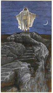 Jesus Goes Up Alone onto a Mountain to Pray