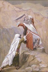 Moses Destroys the Tables of the Ten Commandments