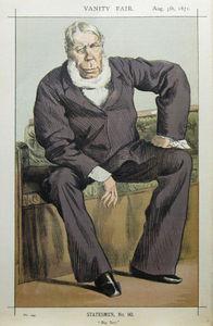Caricature of George William Pierrepont Bentinck M.P.