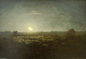 The sheep pen, moonlight