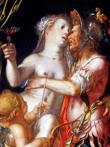 Aphrodite Ares and Eros Sun