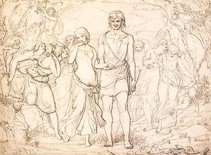 Cymon And Iphigenia, Study