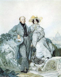 Portrait of G. N. and V. A. Olenin