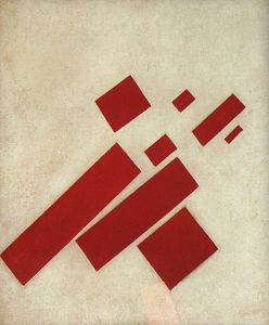 Suprematism with eight rectangles