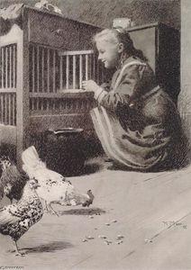 Girls in henhouse