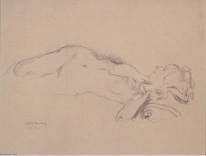 Reclining Female Nude (Mileva Roller)