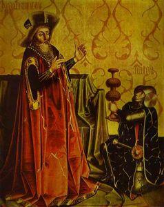 Abishai Kneeling before David