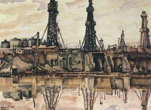 Baku. Oil rigs.