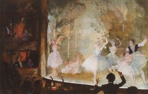 Russian ballet. Champs-Elysees. Sylph