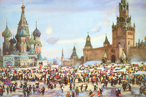 Palm Sunday Bazaar on Red Square