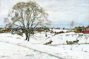Winter. Black Birches. Sergiyev Posad