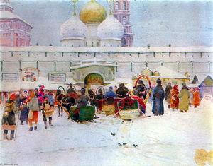 The Market Near Troitse-Sergiyev Monastery