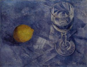 Glass and lemon