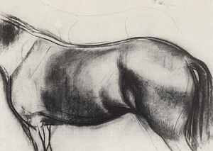 Sketch for the painting Bathing the Red Horse