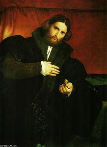 Portrait d un gentilhomme avec patte de lion