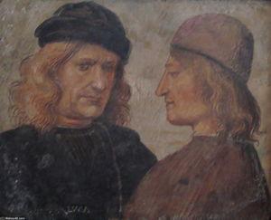 Self-portrait of Luca Signorelli (left)