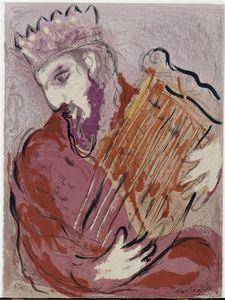 David with his harp