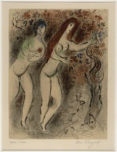 Adam and Eve with the forbidden fruit