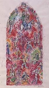 Vitrage at Chichester Cathedral (David, Psalm 150)
