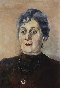 Portrait of poet Anna Akhmatova