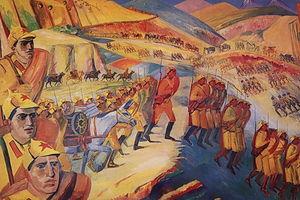 Mountainous march of armenian units