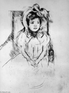 Little girl with cap Sun
