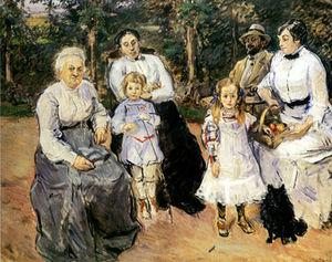 Slevogt family in the garden of Godramstein