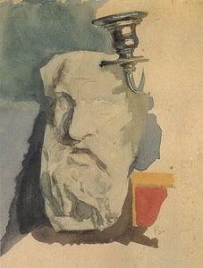 Still Life. Plaster mask, horn of chandelier.
