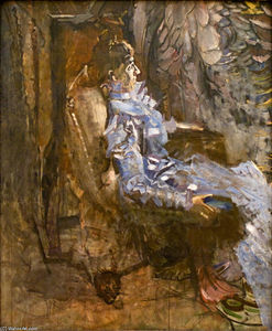 A Lady in Lilac (Portrait of Nadezhda Zabela)