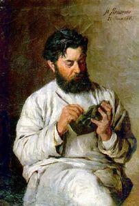 Portrait of the sculptor L.V. Posen