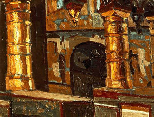 Rostov Veliky. Interior of church of Savior.