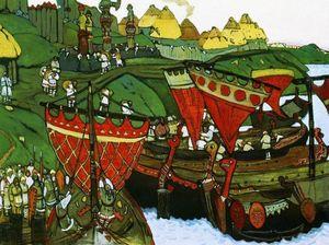 Ancient russians at Dnieper