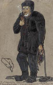 Costume design of a Shipbuilder for ''Peer Gynt''