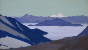 Туман в горах Гималаи