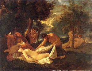 Sleeping Venus, surprised by Satyr