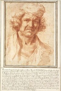 Self-portrait of Nicolas Poussin from 1630, while recovering from a serious illness