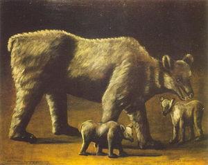 el blanco oso enestado cachorros