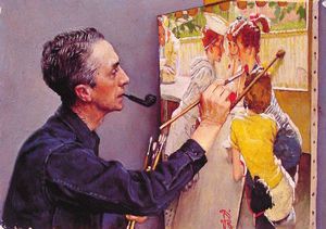 Portrait of Norman Rockwell Painting the Soda Jerk