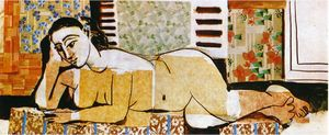 Lying naked woman