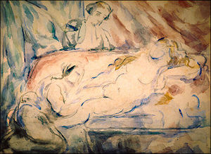 Nude Female with Attendants
