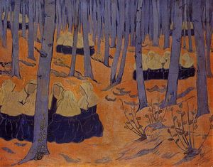 Breton Women, the Meeting in the Sacred Grove