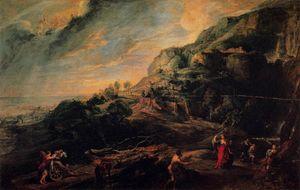 Ulysses and Nausicaa on the Island of the Phaeacians